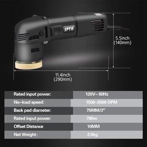 Image 3 - SPTA 3 인치 미니 자동차 폴리 셔 780W/10mm 듀얼 액션 폴리 셔 DA 자동차 폴리 셔 자동 폴리 셔 기계 스폰지 연마 패드 세트