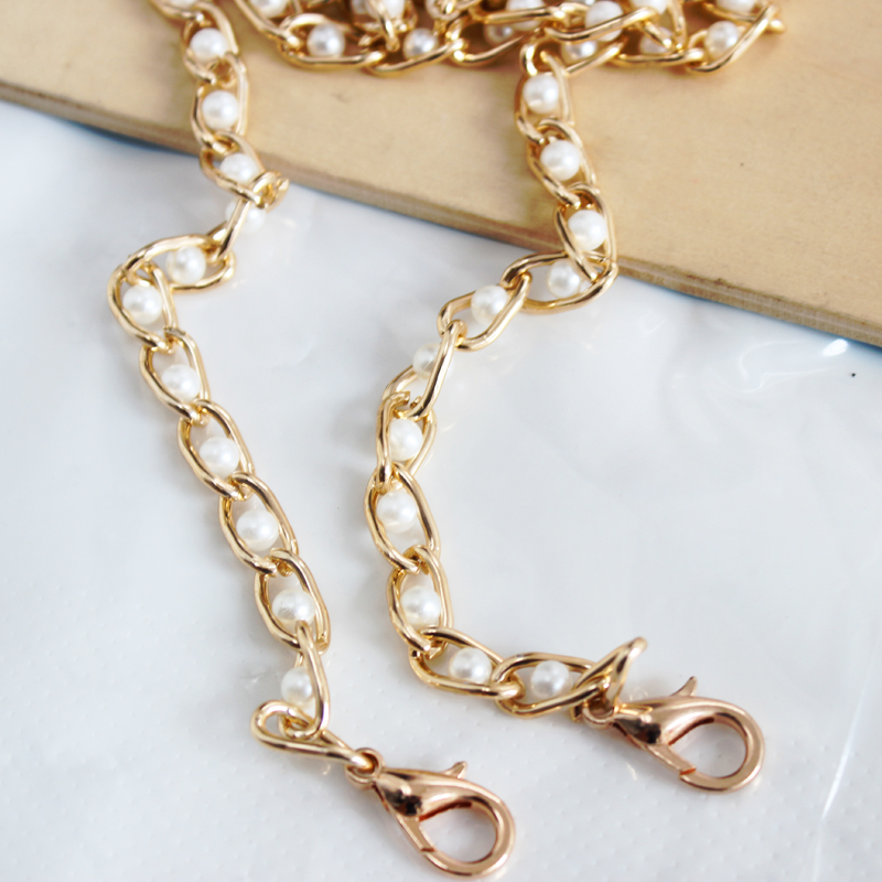 Women Sweet Imitate Pearl Shoulder Bag Strap Belt Chain 2019 Fashion DIY Long Replacement Strap Handbag Handles Bag Accessories