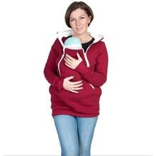 Maternity-Wear Pregnant-Women Sweatshirt Pullovers Hooded Kangaroo for Tops Parenting