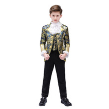 High quality children's clothes European court dress Prince Charming drama costume role-playing studio photo children suit M322
