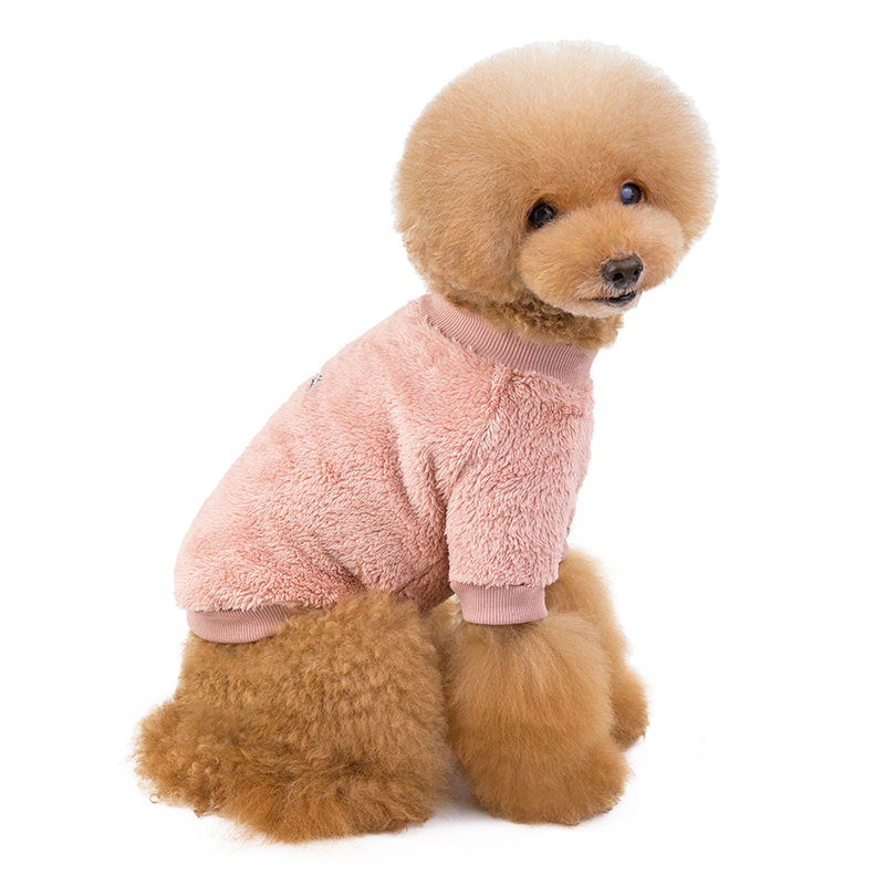 Autumn winter pet warm dog clothes for small dog simple jacket plush low collar design poodle chihuahua medium puppy accessories in Dog Hoodies from Home Garden