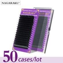 NAGARAKU 50 kılıf parti kirpik Maquiagem 16 satır bireysel kirpik Premium yumuşak vizon kirpik yüksek kalite Faux Cils