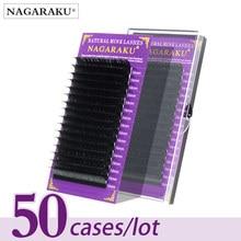 NAGARAKU – faux cils individuels en vison doux, le lot de 50 boîtes de 16 rangées, qualité premium