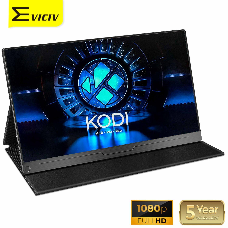 EVICIV 15,6 Tragbare Monitor Raspberry Pi LCD Display 1080P KODI Media Player Macbook Laptop PC Computer Mehrere Bildschirm Lautsprecher