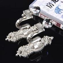 2 Stks/set Hoge Kwaliteit Metalen Kristal Gordijn Haken Houder Hanger Brons Display Rack Wandhaak Gordijn Decoratie Accessoires