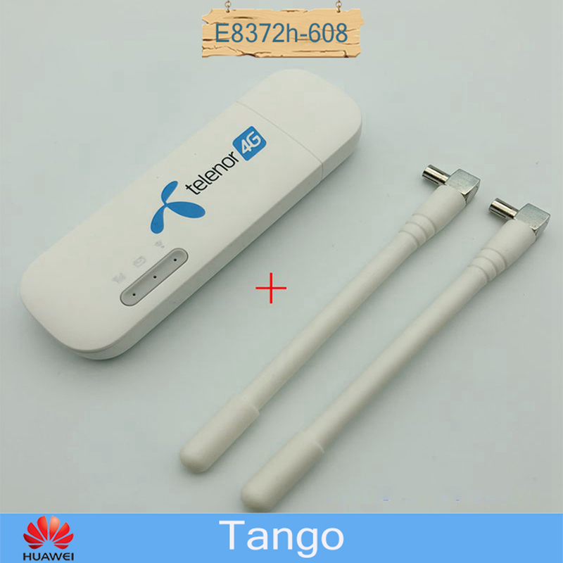 Unlocked Huawei 4G Wingle E8372h-608 USB LTE WIFI Modem Router With 2pcs Of Antenna