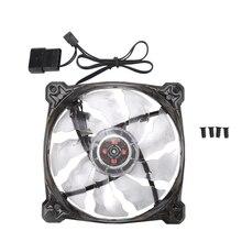 HOT-PC компьютер 16 дБ Ультра тихий 12 светодиодов 15 светодиодов чехол вентилятор Радиатор охлаждения ПК Вентилятор 120 мм, 12 см вентилятор, 12В DC 3P IDE 4Pin