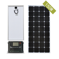 Panel Solar 12V 150W 18V Monocrystalline Solar Charger for Car Battery 20A Solar Charge Controller Solar Power System