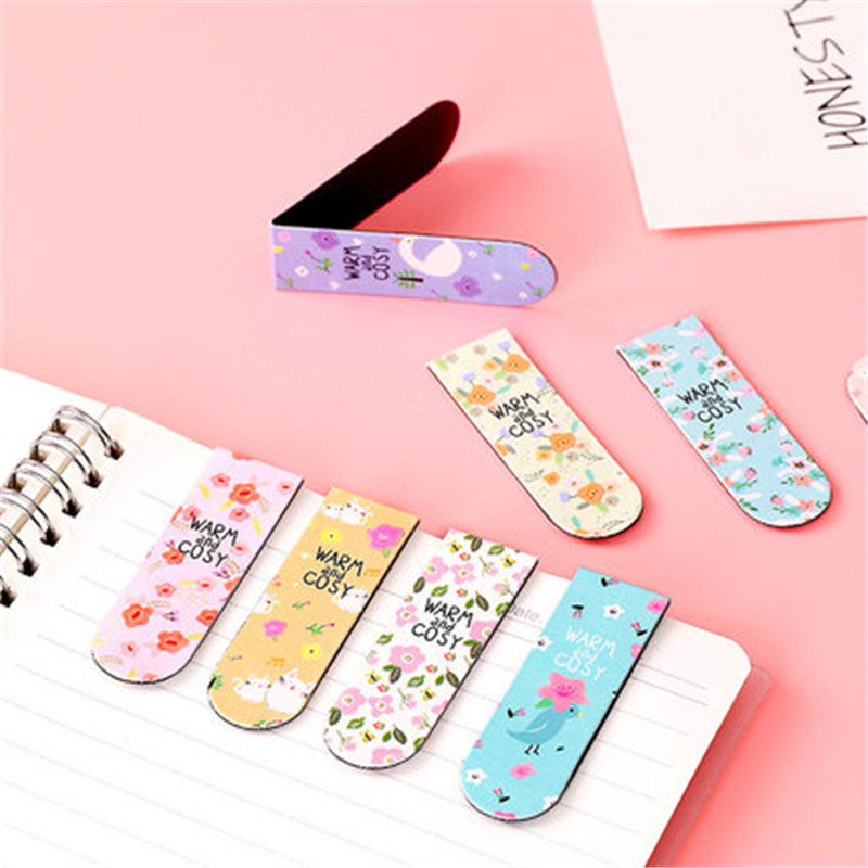 18pcs Mini Magnetic Bookmark Set Kawaii Bookmark Stickers Book Marker Paper Reading Students Stationery Supplies