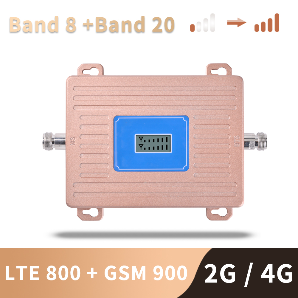 4G LTE 800 Mhz B20 GSM 900 Mhz Mobile Phone Signal Booster GSM LTE 4G Cell Phone Cellular Signal Repeater Amplifier