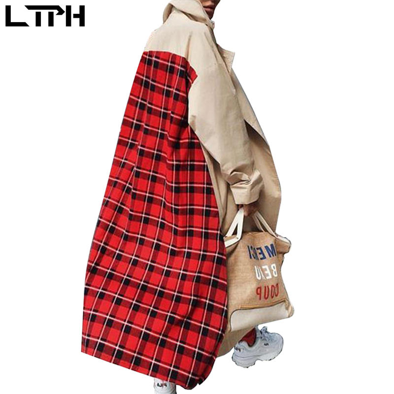 Trench For Women Rushed 2019 Best-selling New European And American Large Size Loose Plaid Windbreaker Women's Coat Winter