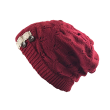 Stylish Winter Hat Simple Warmer Cold Protection Hat Creative Outdoor Knitted Hat for Lady Girls (Red)