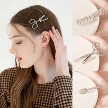 Bridal Headwear Hairpins Rhinestones-Stars Scissor Barrettes Girls Women Crystal