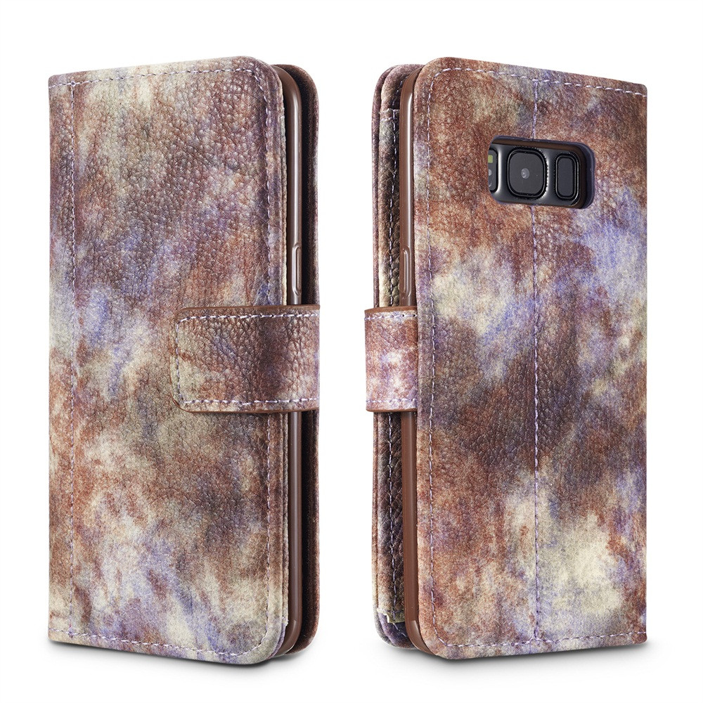 Flip Cover Magnetic Card Wallet Holster Bracket Cover For Samsung Galaxy Note 8 Forest Element Retro Protective Cover 10