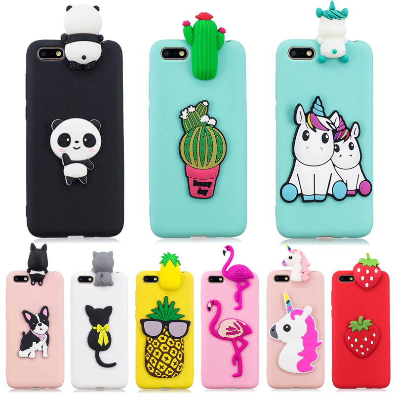 on <font><b>Huawei</b></font> Y5 2018 Case 3D Case For Funda <font><b>Huawei</b></font> Y5 Lite 2018 Y 5 Prime 2018 <font><b>DRA</b></font>-LX5 DUA-<font><b>L21</b></font> Cover Soft Silicone Phone Case Etui image