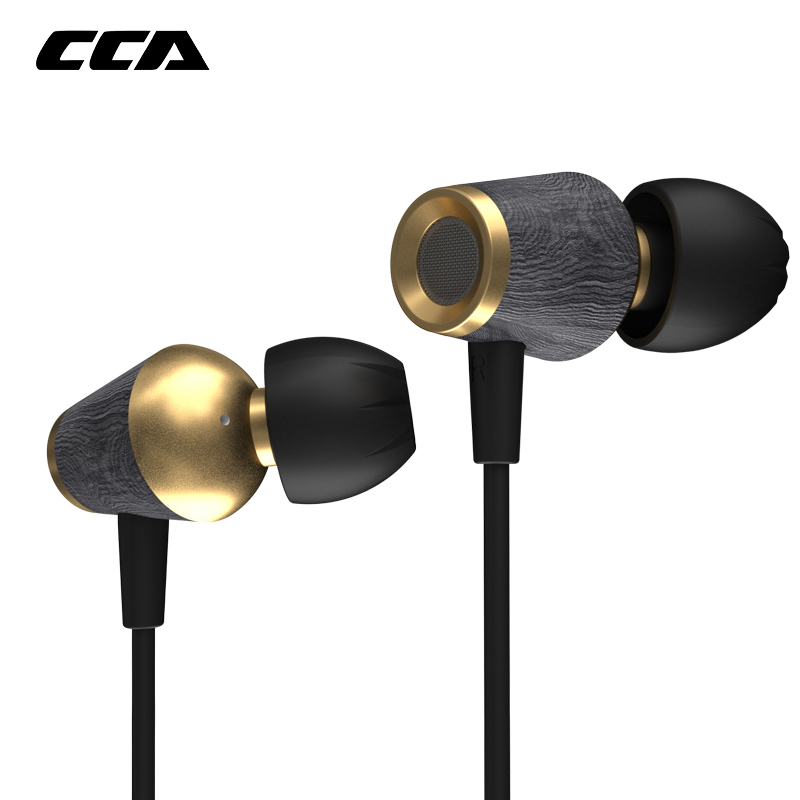 Cca Cst Houten In-Ear Oortelefoon Metal Bass Oortelefoon Sport Dynamische Headset Hout Zware Oortelefoon Voor Zsn Pro Zsx asx Zax C12 C10