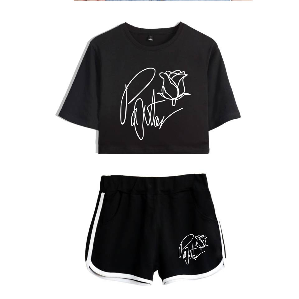 Frdun Tommy New 2020 Web Celebrity Payton Moormeier PYTN Print Women Two Piece Set Shorts+lovely T-shirt Hot Sale Clothes