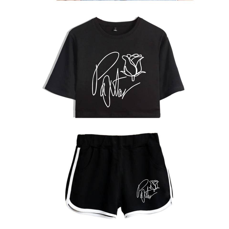 Frdun Tommy New 2020 Web Celebrity Payton Moormeier PYTN Print Women Two Piece Set Shorts+lovely T-shirt Hot Sale Clothes