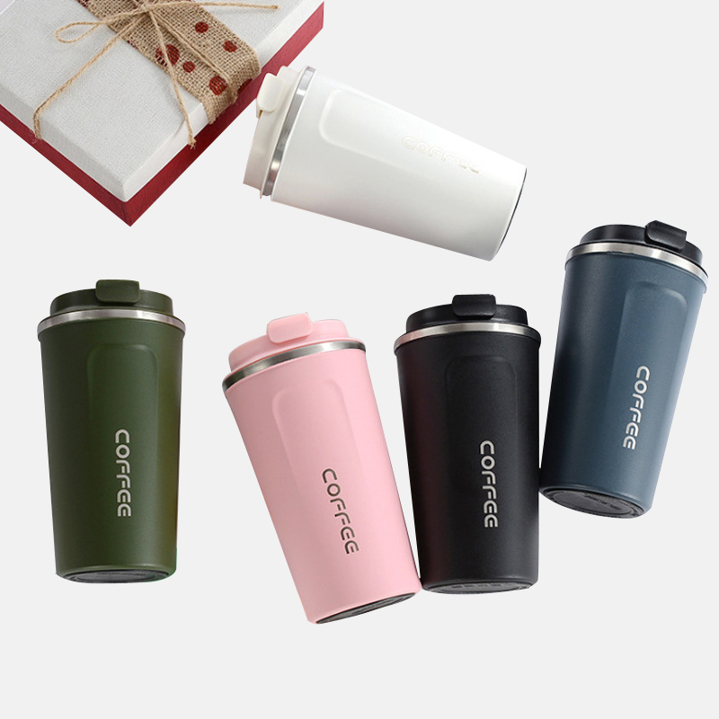 510/380ML Double Stainless Steel Thermos Water Bottle Coffee Mug Thickened Travel Thermo Cup For Gifts Thermos Flask Termo Cafe