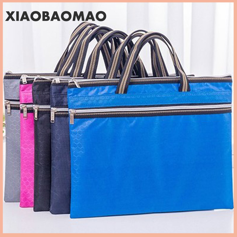 Large A4 Business Travel Document Bag Waterproof Canvas Office Briefcase Handbag Man Travel Files Case Bag Office Stationery
