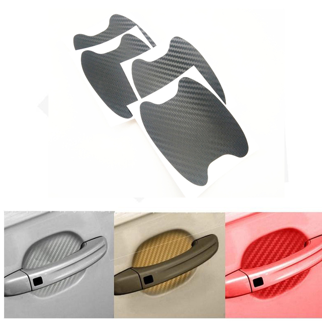4 car door handle protective film 3D car sticker for Chery Tiggo Fulwin A1 A3 QQ E3 E5 G5 V5/EMGRAND EC7 EC7-RV EC8