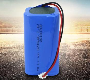 50pcs/lot superior quality 7.4v 18650-2S2P lithium battery pack li-ion rechargeable battery 18650 battery factory direct sale