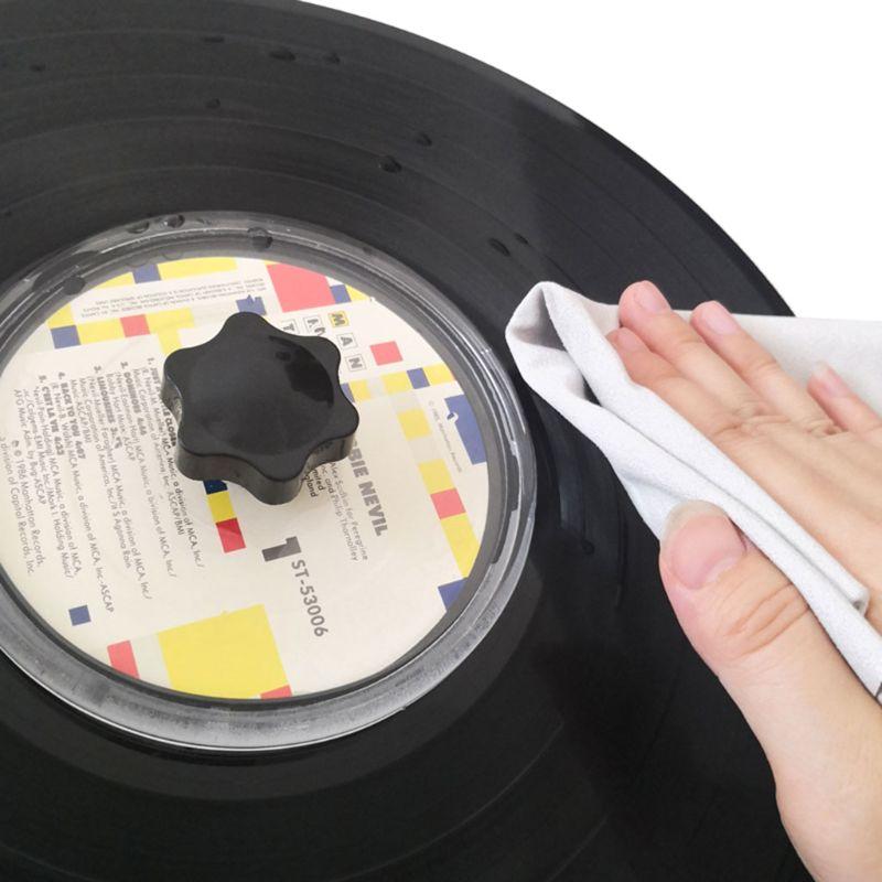 2PCS 40x40CM Water Absorbent Suede Deerskin Towel Clean Cloth LP Vinyl Records