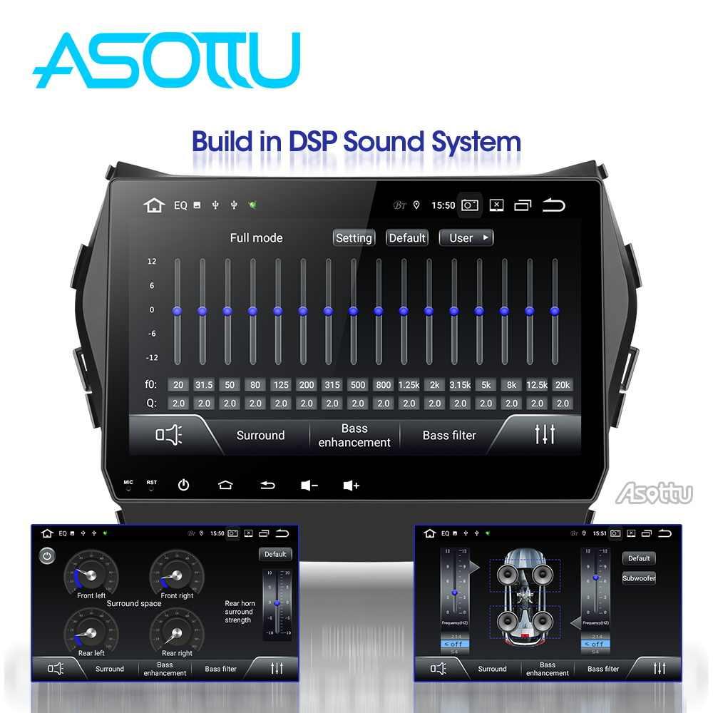 Asottu CIX459060 Android PX30 9,0 reproductor de radio de video gps para coche 1 din para Hyundai IX45 Santa fe 2013 unidad de navegación para coche