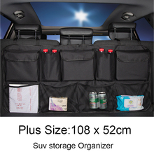 Plus Größe Auto Stamm Hinten Sitz Organizer für SUV MPV Universal Organizer Fahrzeug Sitz Organizer Tasche Sitz Zurück Tasche Verstauen aufräumen