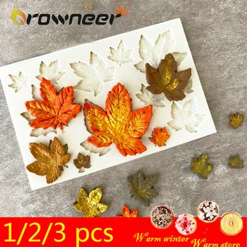 1 2 3 sztuk 3D silikonowe formy do pieczenia DIY motyl Maple Leaf Mold Fondant czekoladowy ciasto narzędzie dekoracyjne odporność na temperaturę tanie i dobre opinie CN (pochodzenie) E578861 Na stanie Ekologiczne Food Grade Silicone Pink Gray Transparent Approx 7 3cm*5 7*0 8cm Approx 9 8*6 5*0 6cm