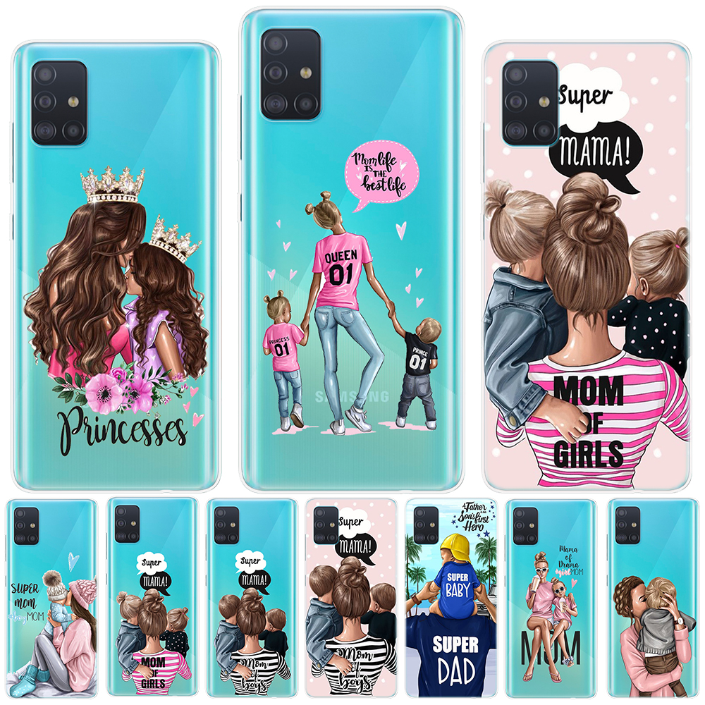 Spuer MAMA Baby Mom Girl Silicone Case For Samsung Galaxy A01 A51 A71 A81 A91 S20 Plus S20 Ultra Note 10 Lite Pro Soft TPU Cover