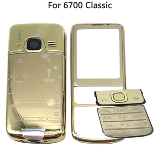 Image 5 - New 6700 Full Housing Case For Nokia 6700 Classic 6700C Rear Metal Battery Cover Front Middle Frame Plate Back Cover