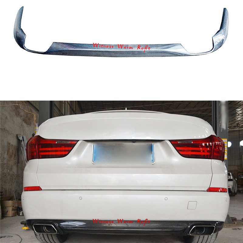 Carbon Fiber Rear <font><b>Bumper</b></font> Four out Exhaust Diffuser Lip Spoiler For <font><b>BMW</b></font> 5 Series <font><b>F07</b></font> <font><b>GT</b></font> Body Kits 2014-UP Car Styling Splitter image