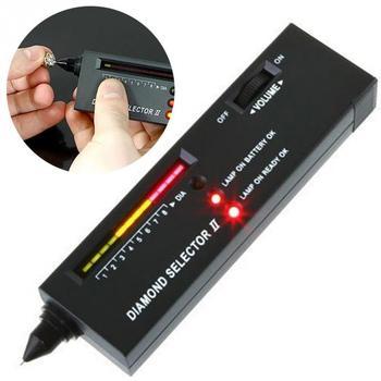 Praktyczny diamentowy selektor tester diamentów selektor kamieni szlachetnych II klejnoty wskaźnik LED klejnot narzędzie jubilerskie Test narzędzie jubilerskie s tanie i dobre opinie Woopower DIGITAL