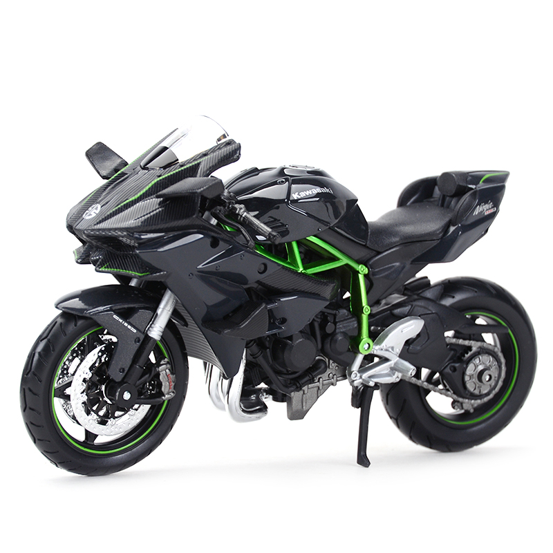 Maisto 1:12 Kawasaki Ninja H2 R Black Diecast Alloy Motorcycle Model Toy