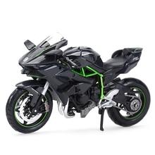 Maisto 1:12 Kawasaki Ninja H2 R Nero Die Cast Veicoli Da Collezione Hobby Modello di Moto Giocattoli