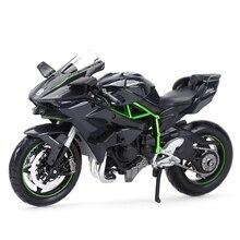 Maisto 1:12 Kawasaki Ninja H2 R siyah döküm araçları koleksiyon hobiler motosiklet Model oyuncaklar