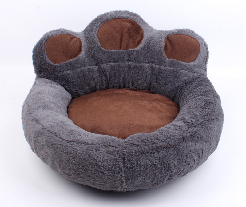 Bear Paw Dog Bed Gray