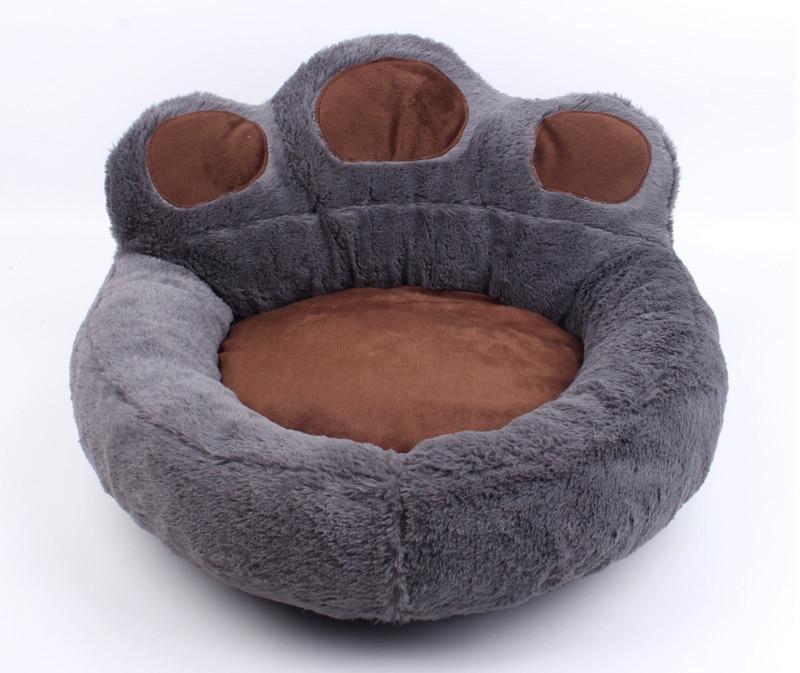 Bear Paw Dog Bed Gray