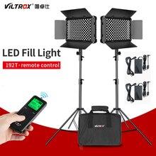VILTROX VL S192T LED الفيديو الضوئي ثنائي اللون عكس الضوء لوحة لاسلكية عن بعد طقم الإضاءة + 1.8 متر ضوء موقف لاطلاق النار الاستوديو
