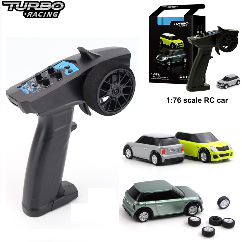 1:76 Turbo Racing RC Car Mini Full Proportional Electric Race RTR Car Kit 2.4GHZ Racing Experience Car Kids Toys New Patent Car
