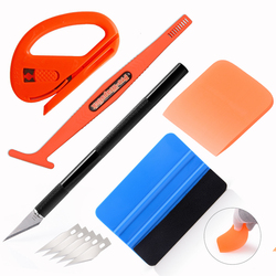 FOSHIO Car Accessories Exterior Protective Film Installing Wrapping PPF Scraper Glass Window Tinting Squeegee Cutter Tools Kit