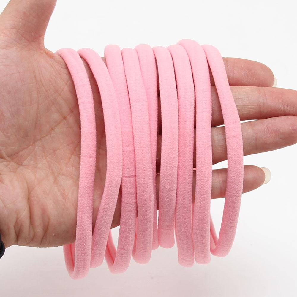 10Pcs//lot  Kids DIY Hair Bows Soft Thin Nylon Elastic Headbands Hair Accessories