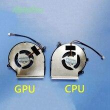 Novo Laptop CPU GPU Refrigerador de Ventoinha de Refrigeração para MSI GE72 GE62 PE60 PE70 GL62 GL72 GP62 2QE 6QG MS-1794 MS-1795 PAAD06015SL 3 Pin