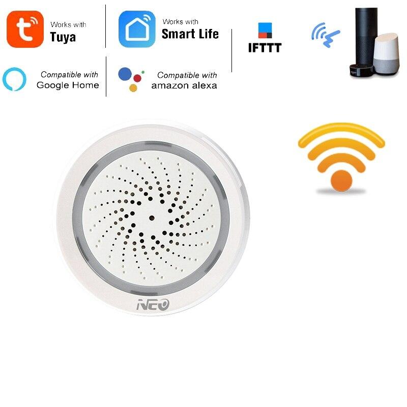 MOOL Temperature Humidity Alarm Sensor Wifi Siren Tuya Smart Life App Work With Echo Alexa Google Home IFTTT