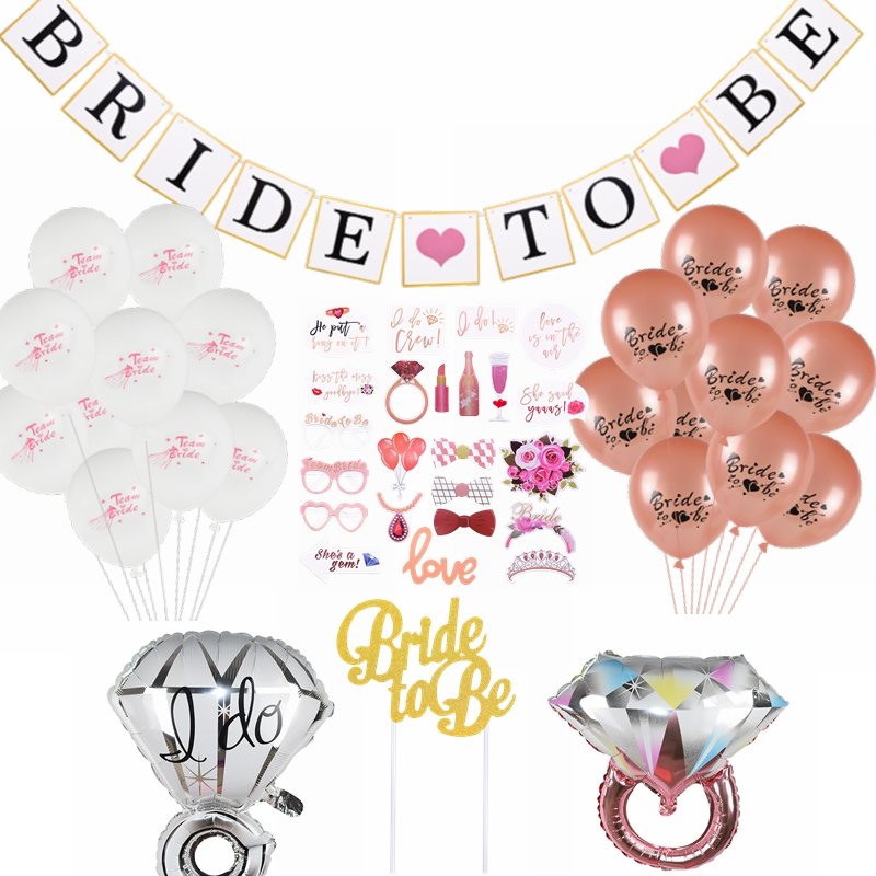 Bride To Be Banner Wedding Bridal Balloons Team Bride Bachelorette Party Bridal Shower Hen Party Wedding Decorations Supplies