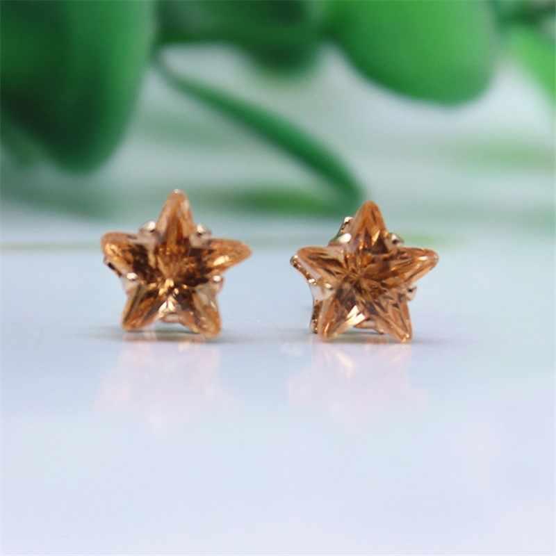 Горячие смолы бижутерии серьги пентаграмма Золото Серебро 8mm14 цветов оптовая продажа массивные серьги для женщин подарок