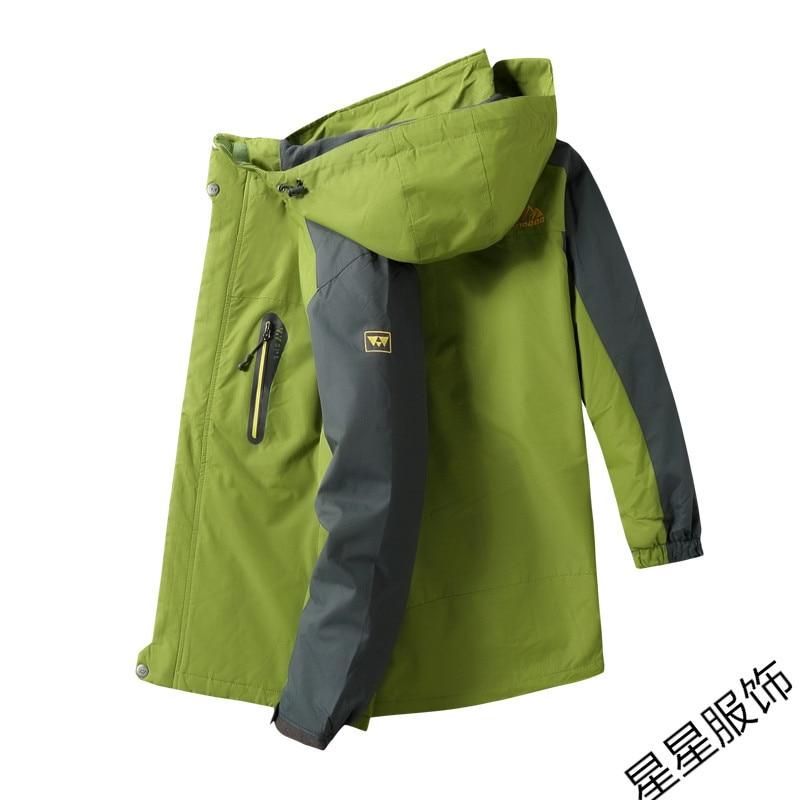 10xl 8xl Куртки мужские осень Утепленная Мужская s теплая куртка ветрозащитное пальто с капюшоном на молнии куртки мужские худи - 4