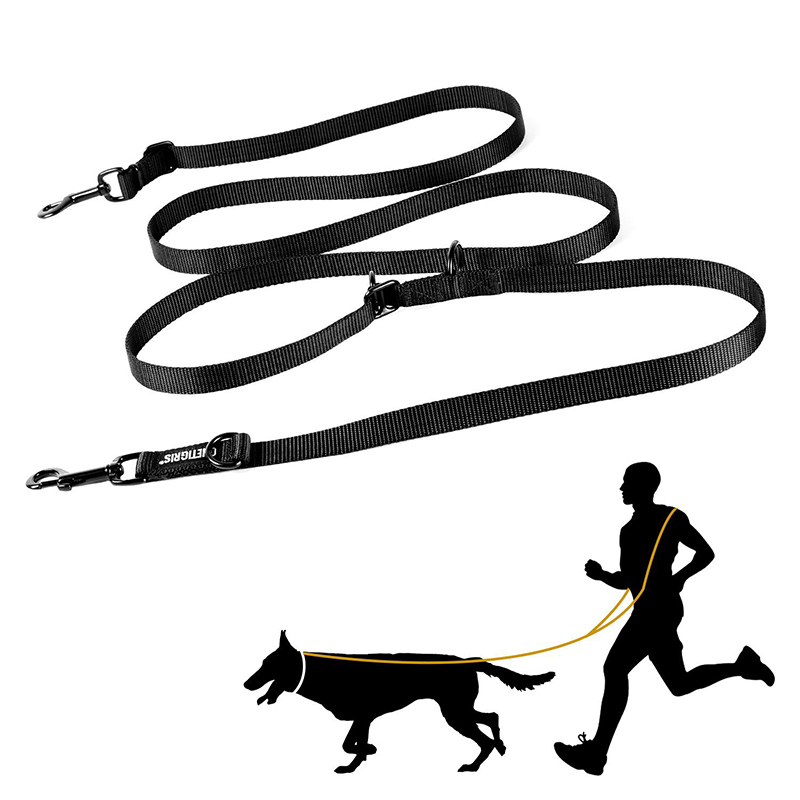 OneTigris Small K9 Smart Leash Adjustable Dog Traffic Lead Multiuse Walking Training Leash For Walking The Dog