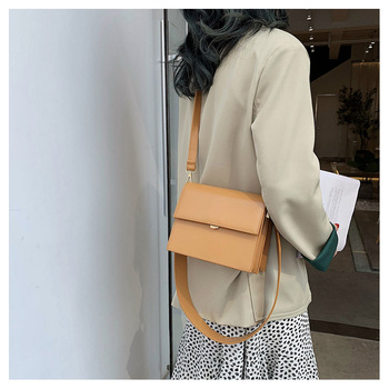 Mini Bag New Style Simple and Versatile Shoulder Bag Fashion Leather Wide Strap Cross-Body Women Bag